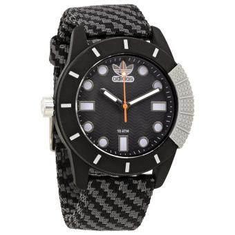 Adidas Abstract Black Dial นาฬิกาข้อมือผู้ชาย Fabric Watch ADH3169