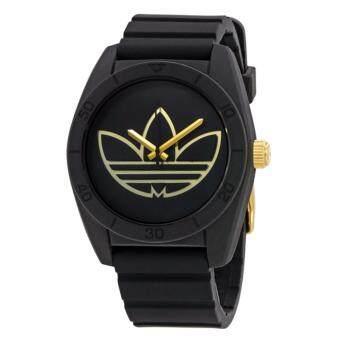 Adidas Originals นาฬิกาข้อมือ Santiago Watch ADH3197(Black/ Gold)