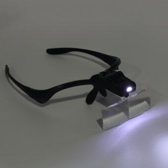 Adjustable Loupe Headband Magnifying Glass Magnifier with LEDMagnifying Glasses Jeweler Watch Repair