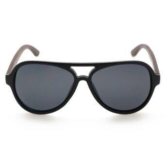 f49dc5490f2 รูปภาพสินค้า ALP Polarized Sunglasses แว่นกันแดด Aviator Style รุ่น ALP-0016 -BKT-BKP-WD (Black Black)