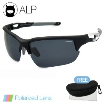ALP Polarized Sunglasses แว่นกันแดด Sport Style รุ่น ALP-0073-BKS-BKP (Black/Black)
