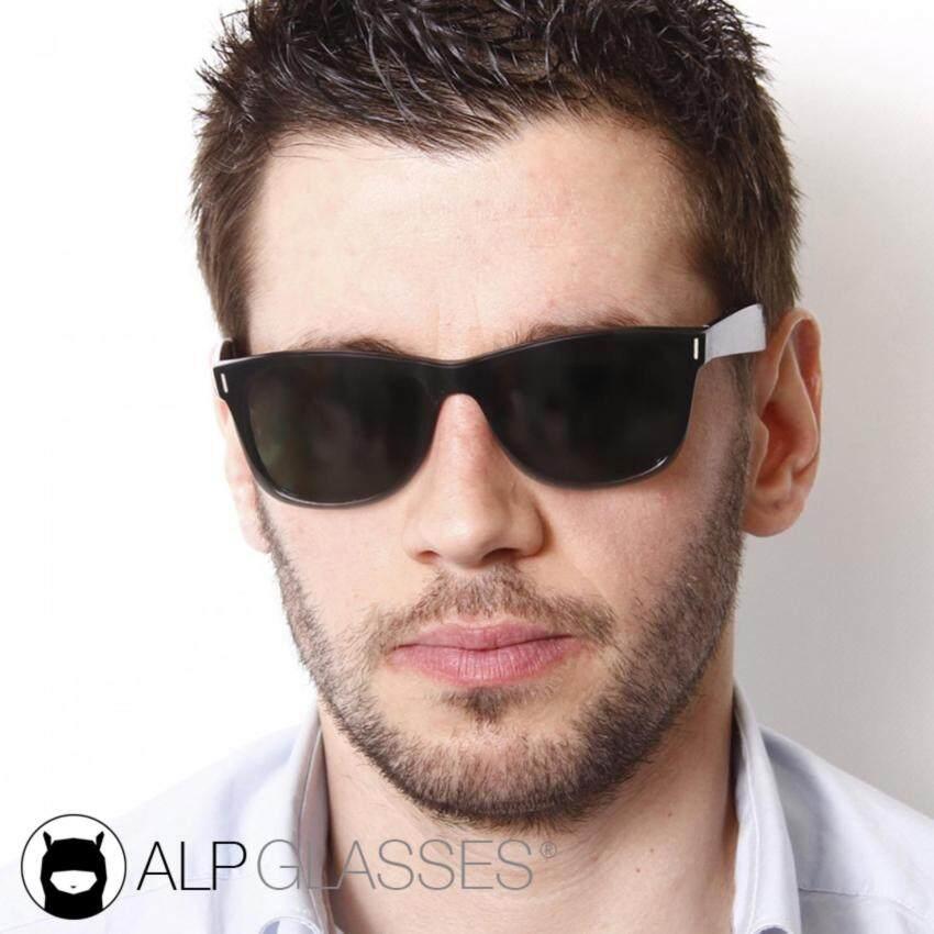 ALP Sunglasses แว่นกันแดด Wayfarer Style รุ่น ALP-0011-BKT-BK (Black/Black)