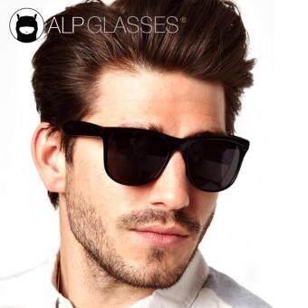 ALP Sunglasses แว่นกันแดด Wayfarer Style รุ่น ALP-0012-BKT-BK (Black/Black)