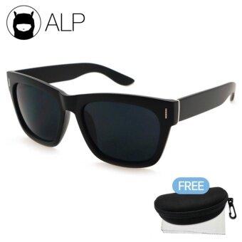 ALP Sunglasses แว่นกันแดด Wayfarer Style รุ่น ALP-0013-BKT-BK (Black/Black)