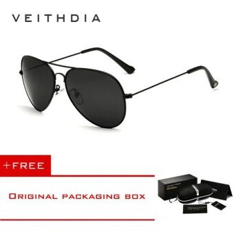 Aluminum Magnesium Polarized Men's Sunglasses Square Vintage Male Sun glas0ses Driving Eyewear Accessories For Men 3026 (Silver) [ Buy 1 Get 1 Freebie ] - intl