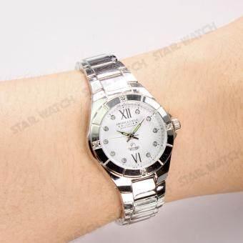 AMERICA EAGLE นาฬิกาข้อมือผู้หญิง สายสแตนเลส รุ่น AE012L - Silver/white - 3