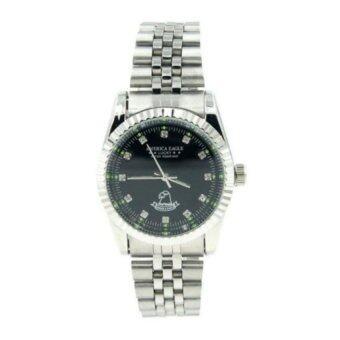 รีวิวพันทิป America Eagle นาฬิกาข้อมือผู้ชาย สายสแตนเลส หน้าปัดสีดำล้อมเพชร รุ่น Lucky 215G