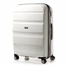 American Tourister กระเป๋าเดินทางรุ่น BON AIR DELUXE  SPINNER 75CM EXP(28นิ้ว) สี WHITE
