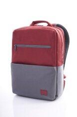 AMERICAN TOURISTER กระเป๋าเป้ใส่โน๊ตบุค รุ่น BRIXTON สี RED/GREY