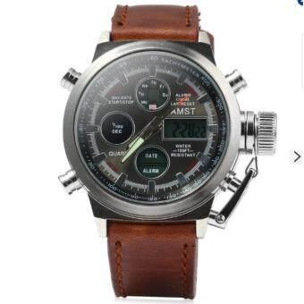 ซื้อ/ขาย AMST รุ่น 3003 นาฬิกาข้อมือ นาฬิกาแฟชั่น ผู้ชาย สีดำ Men Women Canvas Band Sports Quartz Digital Watch withCalendar Alarm Stopwatch Countdown Luminous - Black