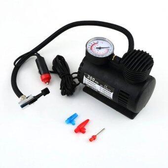 ANNY Air Compressor ปั้มลมไฟฟ้าสำหรับรถยนต์ ปั๊มลมติดรถยนต์ปั๊มเติมลมยาง Air pump 300PSI 12V (สีดำ)