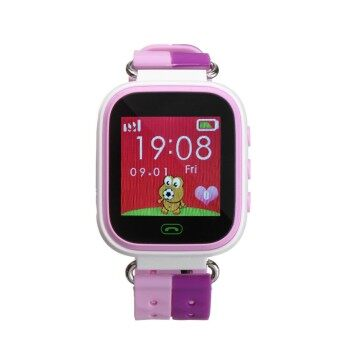 Anti-lost Children Kids Smart LBS Location Tracker Wrist Watch For Android IOS Pink - intl