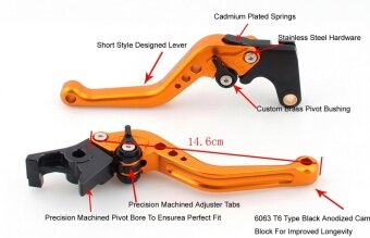 Areyourshop Short Brake Clutch Levers For Honda CBR650F/CB650F2014-2015 (F-18/H-650) Red - intl รูบที่ 3