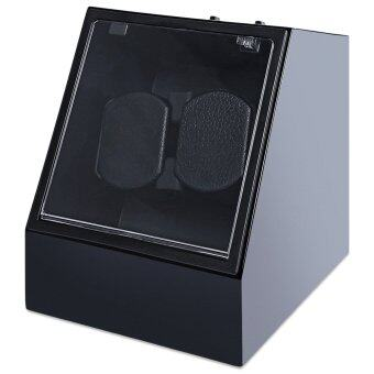 Auto Silent Watch Winder Irregular Shape Transparent Cover Wristwatch Box with EU Plug - intl
