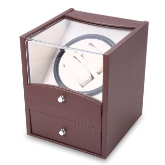 Harga Auto Watch Winder Cuboid Shape Wristwatch Display Box Jewelry Storage Case with Drawer - intl