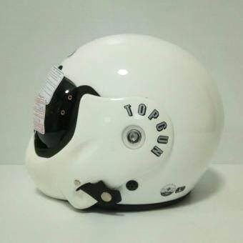 AVEX หมวกกันน็อคเต็มใบ รุ่น TOPGUN สีขาว แว่นดำ