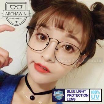 แว่นตากรองแสง แว่นกรองแสง กรอบแว่นตา แฟชั่น เกาหลี ทรงหยดน้ำ รุ่นAWS 411 (กรองแสงคอม กรองแสงมือถือ ถนอมสายตา)