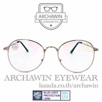 แว่นตากรองแสง แว่นกรองแสง กรอบแว่นตา แฟชั่น เกาหลี ทรงหยดน้ำ รุ่น AWS 611 (กรองแสงคอม กรองแสงมือถือ ถนอมสายตา)