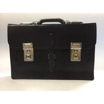 B School Bag กระเป๋านักเรียนแบบถือ หูโยก สองกุญแจ 15 นิ้ว (Black)