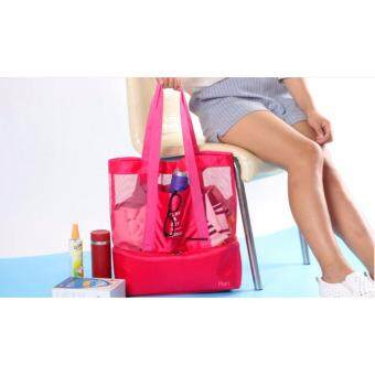 Babymari กระเป๋าใส่เครื่องปั๊มนม กระเป๋าเอนกประสงค์ กระเป๋าเก็บอุณหภูมิ กระเป๋าเก็บความเย็น กระเป๋าปิคนิค Play&Joy สีชมพู