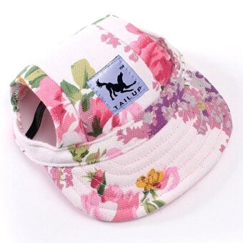 Harga Baseball Cap Summer Canvas Puppy Small Pet Dog Cat Visor Hat Outdoor Sunbonnet M - intl