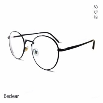 Be Clear : แว่นพร้อมเลนส์สายตาสั้น ทรงหยดน้ำ -275 (สีดำ)