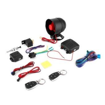 BEAU 1 รถกันขโมยระบบป้องกัน ALARM Security + 2 รีโมทคอนโทรลสีดำ
