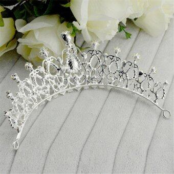 Beauty Pageant Queen Rhinestone Bridal Wedding Prom Tiara CombCrown Fashion USA Silver - intl - 2