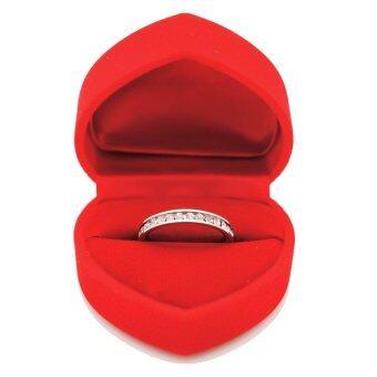 BEWI-G แหวนผู้หญิง สไตล์ แหวนเพชรรอบวง Ring คริสตัลประดับรอบวงชุบทองคำขาว แวววาว เล่นแสงไฟ ดีไซน์หรูหรา รุ่น BG-R0014 สีเงิน(Silver) - 3
