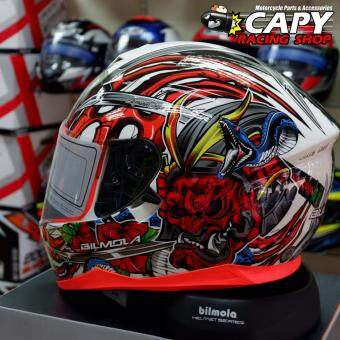 ต้องการขายด่วน Bilmola หมวกกันน็อก หมวกกันน็อค หมวกกันน๊อก หมวกกันน๊อค Bilmola Defender Kabuki Red (Big Bike and motorcycle Helmet)