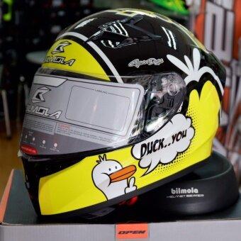 BILMOLA หมวกกันน็อก หมวกกันน็อค หมวกกันน๊อก หมวกกันน๊อค BILMOLA Veloce WTD Gloss ดำเงา (Big Bike and motorcycle Helmet)