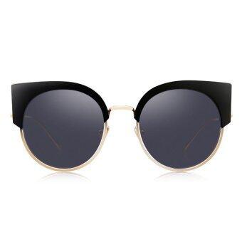 BOLON Women Black Cat Eye Sunglasses Black Lenses BL6018 [2017 Collection]