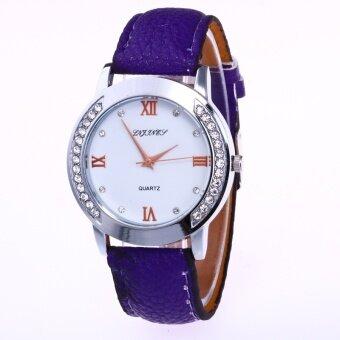Bounabay แบรนด์แฟชั่นลิ้นจี่จักรกลเหล็กรูปแบบการเคลื่อนไหวปรับนาฬิกาสีหญิง - นานาชาติ