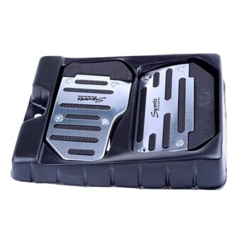 Brake Accelerator DIY Alloy Safety Pedal Pad for Automatic Vehicles AT Car - intl
