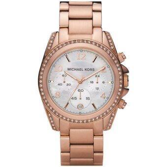 2561 BRAND NEW LADIES MICHAEL KORS ROSE GOLD BLAIR CHRONOGRAPH WATCH MK5522