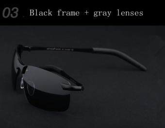 72009d0d94 Brand Polarized Men s Sunglasses Rimless Sport Sun Glasses Driving Goggle  Eyewear For Men oculos de sol