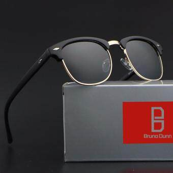 bruno dunn women men clum party polarized sunglasses 51mm 3016 (black frame grey lense) - intl