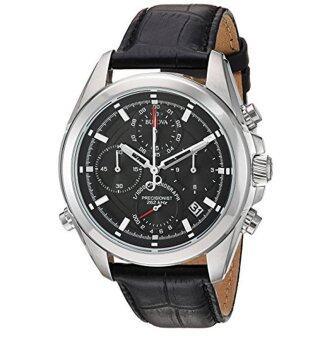 อยากขาย Bulova Men's Quartz Stainless Steel and Leather Casual WatchColor:Black (Model: 96B259)