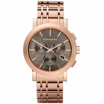 ประเทศไทย Burberry BU1862 Men s Chronograph Rose Gold Watch