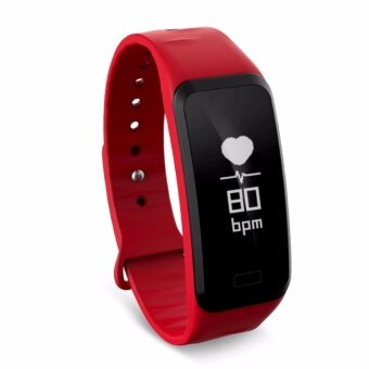 C1S Bluetooth Smart Wristband Bracelet Heart Rate Monitor Pulse Blood Pressure for Apple Android Phone - intl