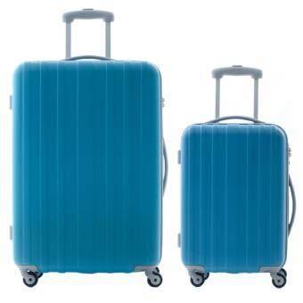 CAGGIONI กระเป๋าเดินทางจับคู่ รุ่นบรัช รหัส 5702-L2 ขนาด 20+28 นิ้ว สีฟ้า
