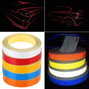 Car Auto Reflective Strip Safety Warning Conspicuity Tape Sticker1CMx5M - intl