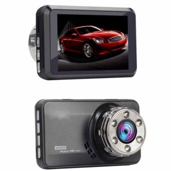 Car DVR T638 Dash Cam Dash Camera Video Recorder G-sensor Dual Camera Pramiro 1080P Full HD 170 Degree angle Car Camera (BLACK) กล้องติดรถยนต์ ภาพสวยคมชัด HD 1080P จอ 3 นิ้ว