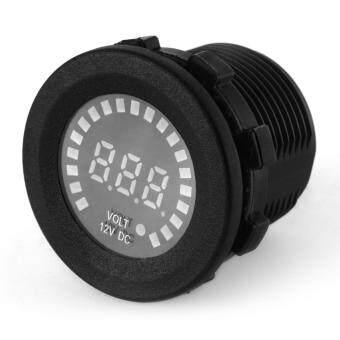 Car Motorcycle Waterproof Blue LED Digital Panel Display VoltmeterVoltage Volt Meter Gauge Black DC 12V - 2