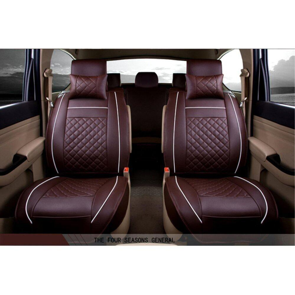 ... Car Seat Covers Set PU Leather,Universal Auto Seat 5 Covers Full Set Bucket Anti ...