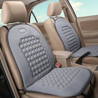 Car Seat Cushion Therapy Massage Padded Bubble Foam Chair Seat PadCover Grey - intl