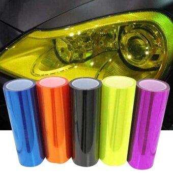 Car Vehicle Styling 30x120cm Headlight Taillight Lamp Light TintVinyl Film - intl