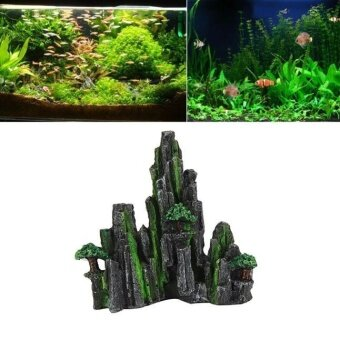 Cartoon resin castle aquariums castle decoration aquarium fish tank tower - intl