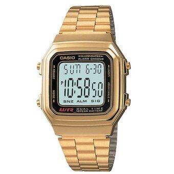 CASIO นาฬิกาข้อมือ รุ่น A178WGA-1ADF (Gold)