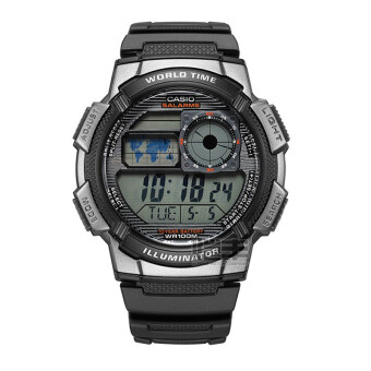 Casio ae-1000w-1b ผู้ชายมัลติฟังก์ชั่กีฬาดูนาฬิกาอิเล็กทรอนิกส์ตาราง